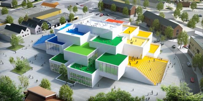HighRes LEGO House from the side 660x330  Tirpitz, Lego House, BIG Lego House åbner til efteråret attraktioner Lego House åbner til efteråret