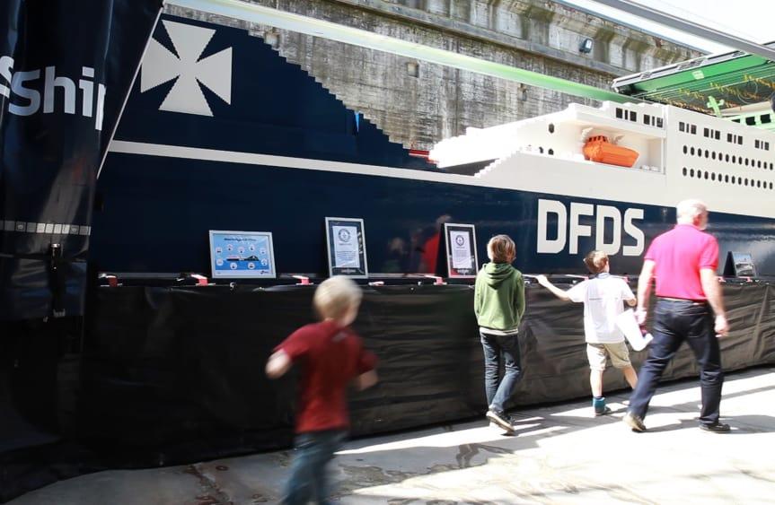 Verdens største LEGO-skib har været et trækplaster for M/S Museet for Søfart, der melder om høje besøgstal i juli 2017. (PR-foto:M/S Museet for Søfart)
