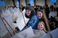 Frivillige har været en vigtig del af Aarhus som kulturhovedstad i 2017, som her ved åbningen. (Foto: Per Bille/Aarhus2017)