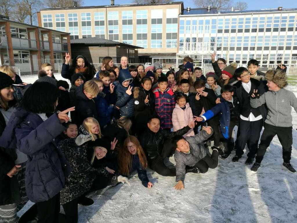 Randers Realskole havde i begyndelsen af februar besøg af eleverne fra en kinesisk musikskole. VisitRanders håber, at besøget er det første af mange. (Foto: Casper Tollerud)