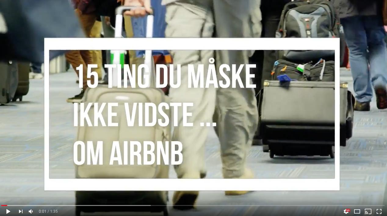 VIDEO: 15 ting du (måske ikke vidste om Airbnb)