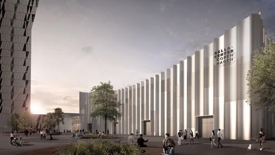 Illustration af det udvidede Bella Center Copenhagen. En trecifret million-investering skal bevare og udbygge Københavns position som kongresby.(Pr)