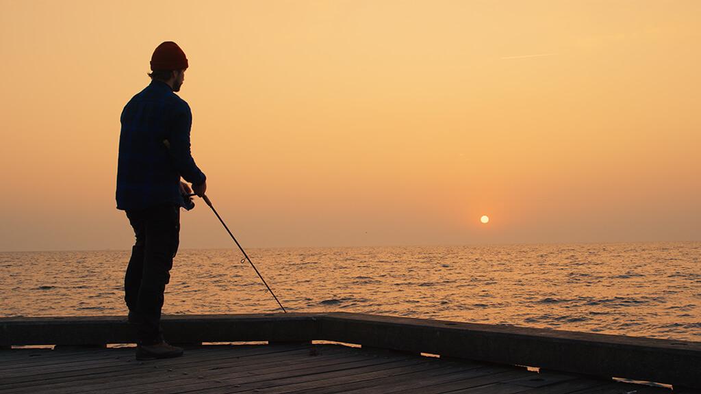 Med en ny kampagne vil Turisthus Nord lokke flere lystfiskere til Sæby. (Foto: Turisthus Nord)