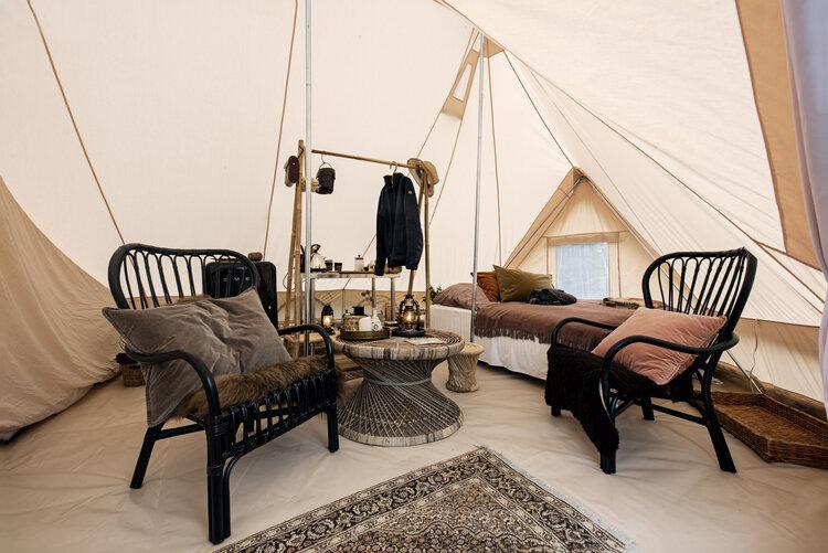 Glampingtelt hos Camøno Camp. (Foto: Camøno Camp)