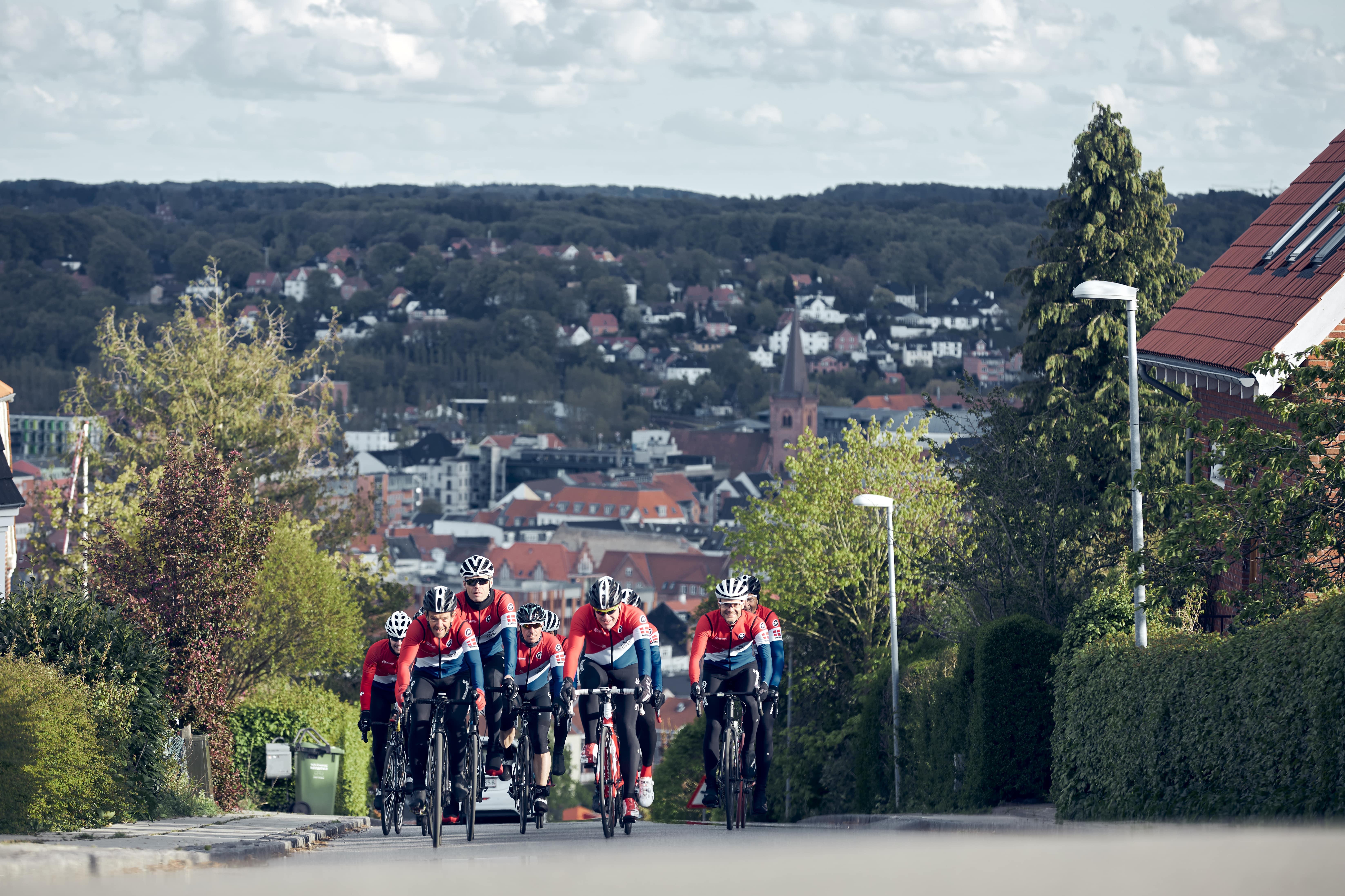 Cykelbakker i Vejle. (Foto: VisitVejle)