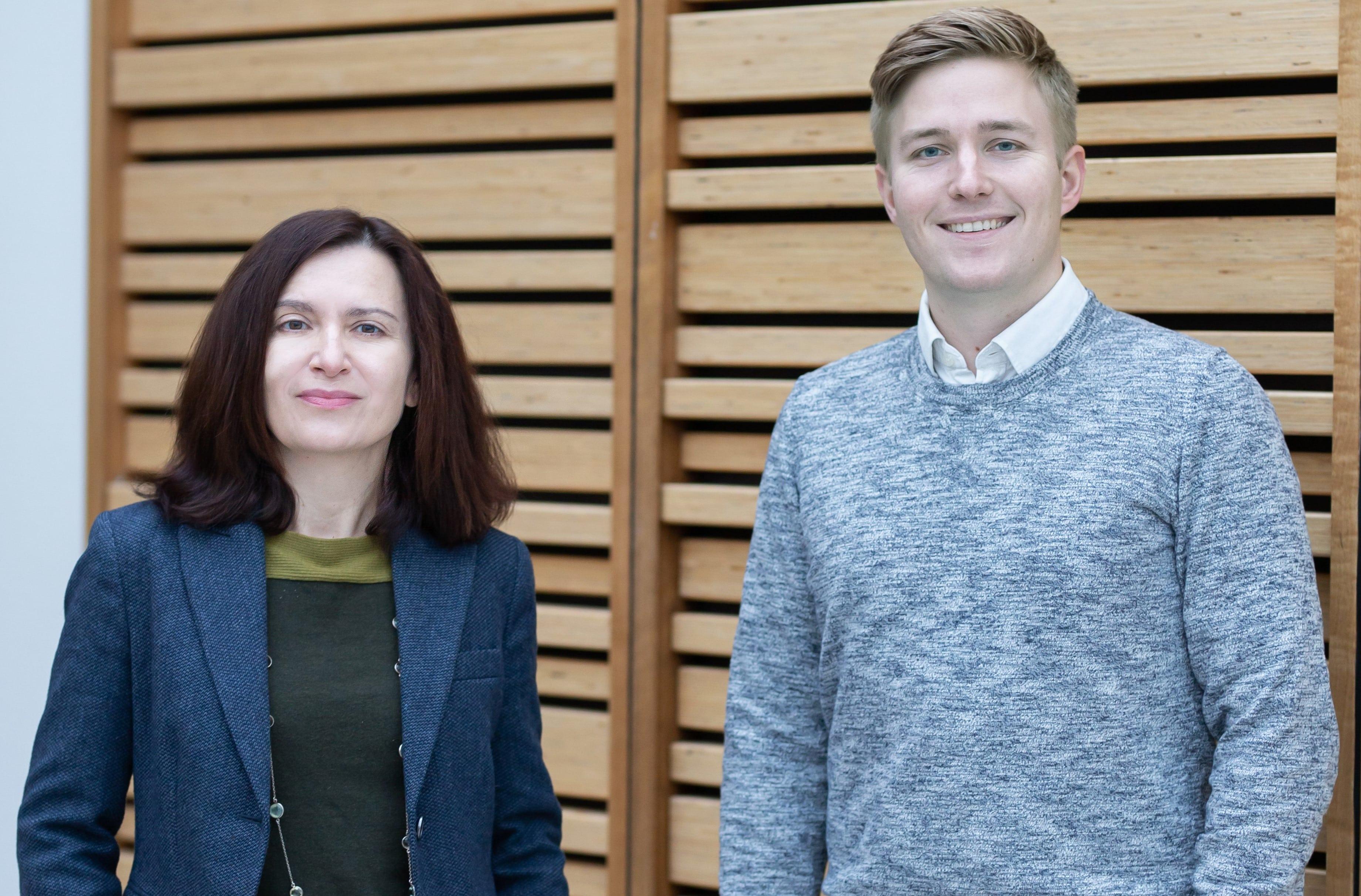 Anna Hammershøy og Dennis Grauslund, Professionshøjskolen UCN. (Foto: Angelika Anna Smuda)