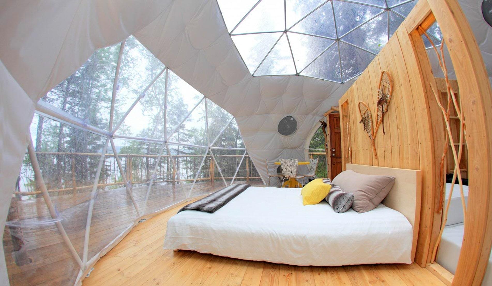Eksempel på hvordan en 'Fjordboble' ser ud. (PR-foto: Pacific Domes)