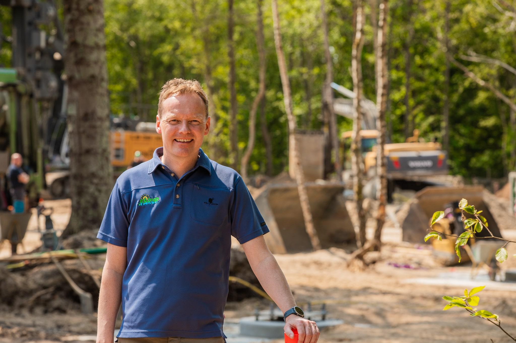 Den nye rutsjebane Fønix koster næsten 100 mio. kr., men er et vigtigt skridt for at løfte Fårup Sommerland ud af coronakrisen, siger parkens direktør, Niels Jørgen Jensen. (PR-foto)