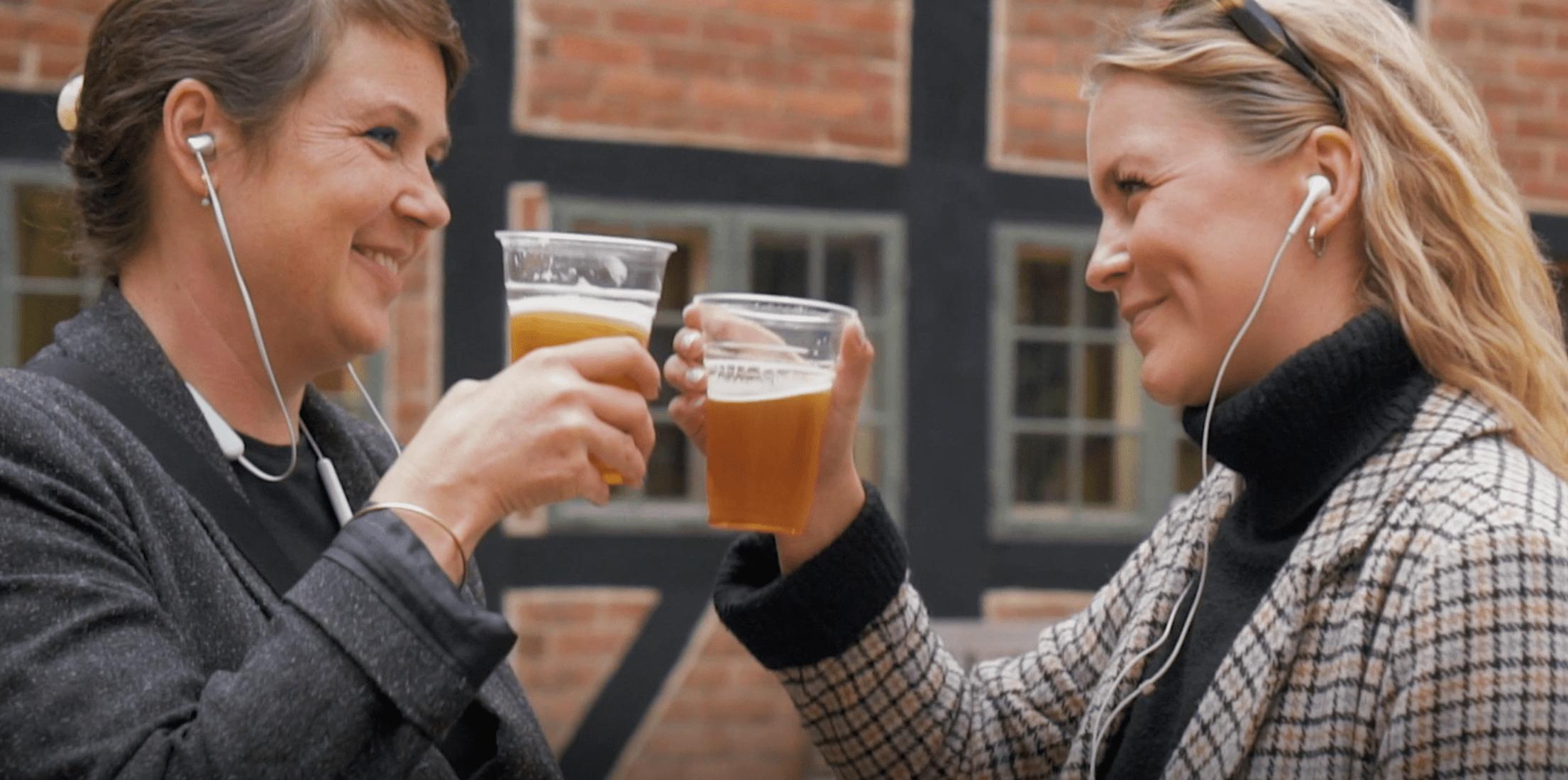 'Fra mjød til specialøl' er titlen på den nye interactive podcast, der bringer gæster og lokale ølelskere på en historisk ølvandring i Odense. (Foto: Destination Fyn)